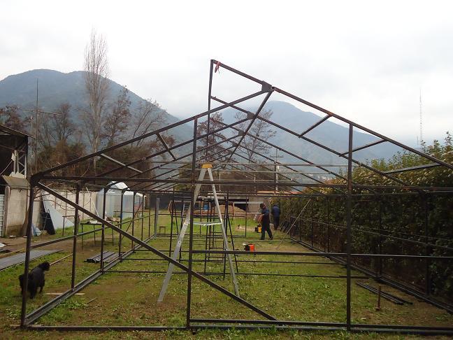 construcción invernaderos